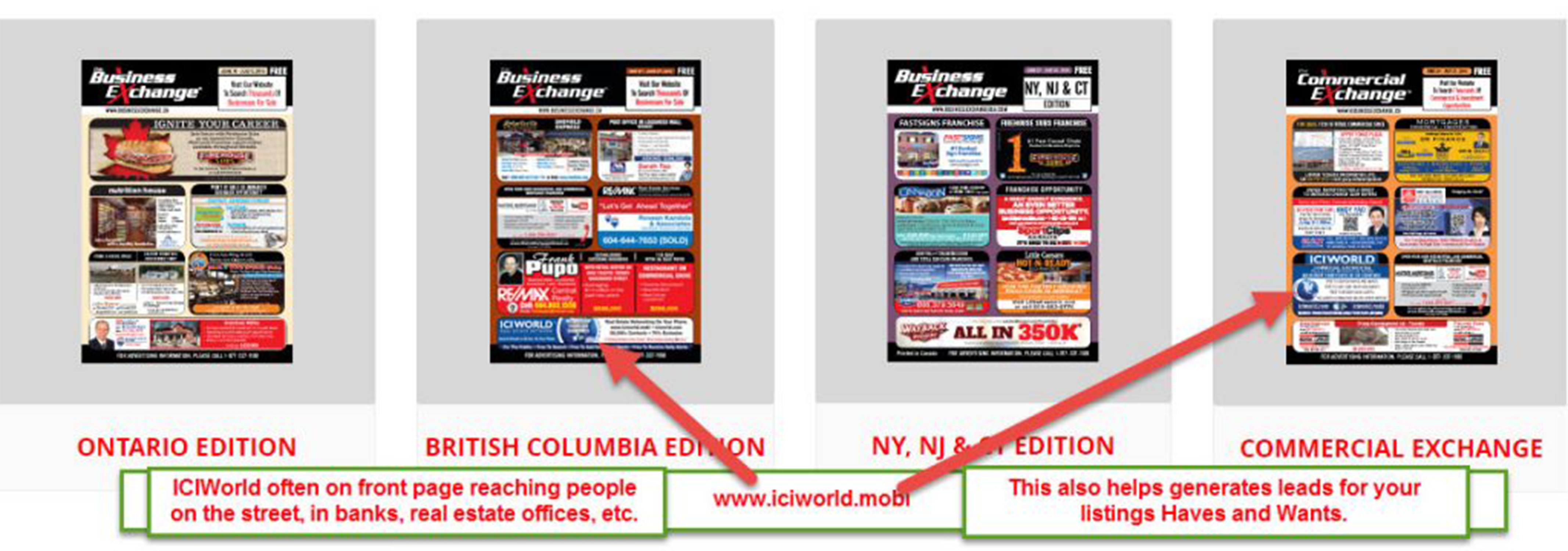 ICIWorld.com BC and Ontario Advertising